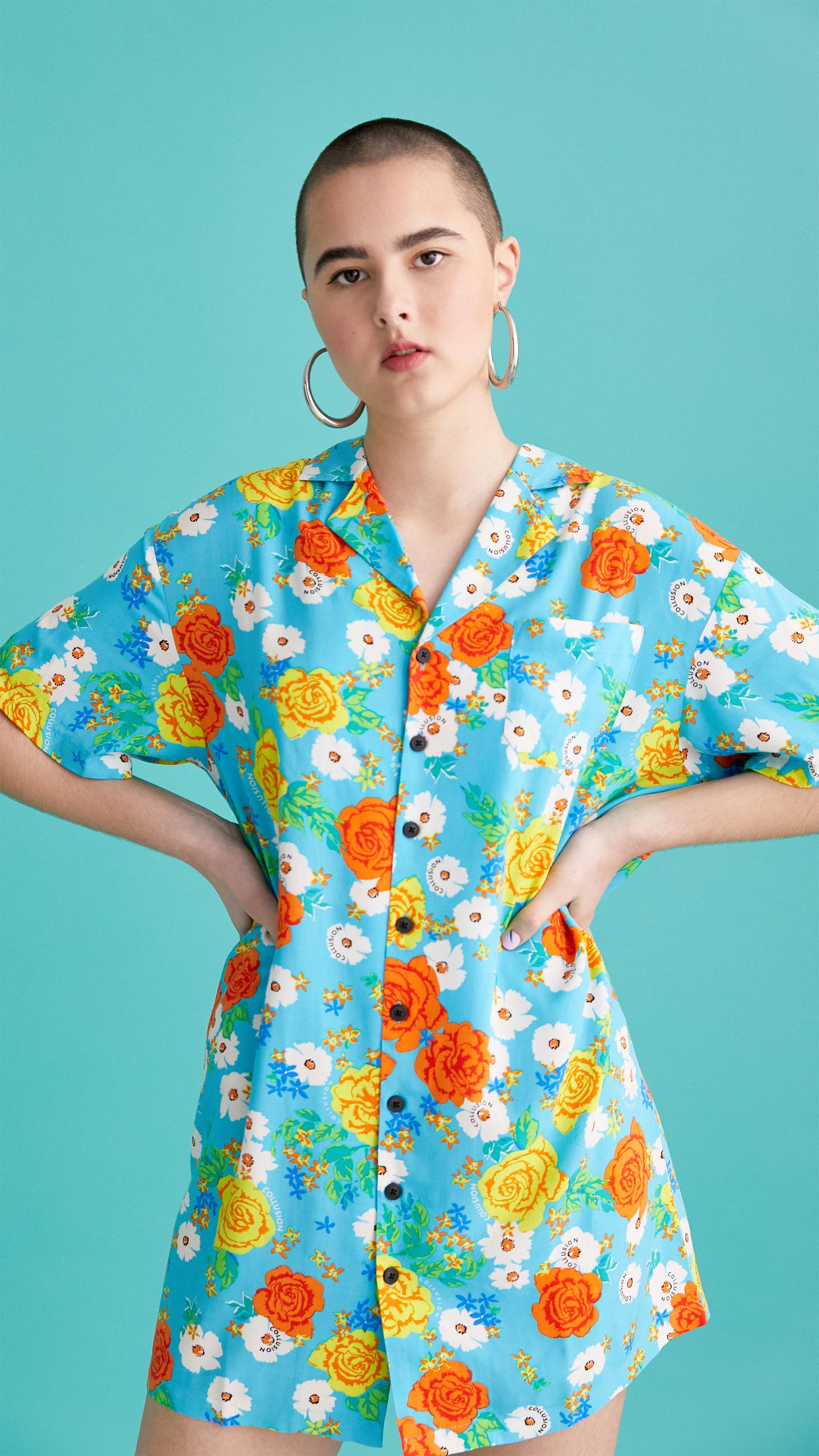 81a3fac93f2 floral print revere shirt dress   Dresses   Collusion